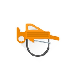 Color alpinism equipment belay rappel icon vector