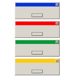 Computer message boxs vector