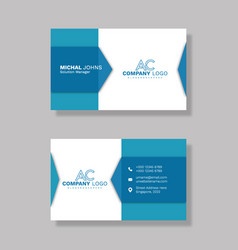 Corporate business card eps vector