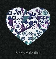 Dark valentine hear design vector