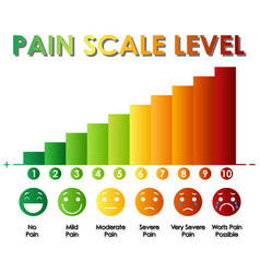 Diagram showing pain scale level with different vector