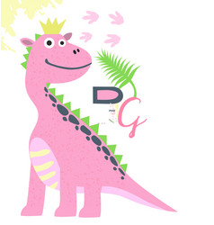 Dino girl color hand drawn character vector