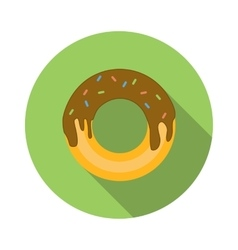 Donut flat icon vector image vector image