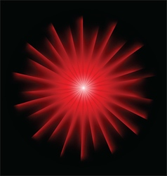 Explosion background with red colors vector image