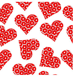 floral patterned heart seamless background vector image