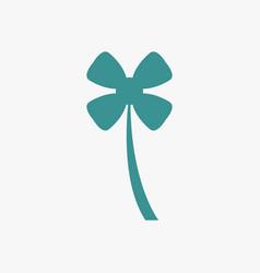 Four-leaf clover icon vector