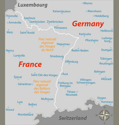 France and germany border vector