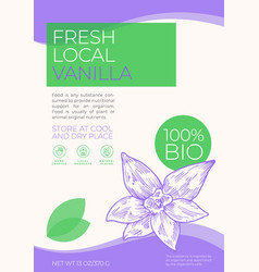 fresh local spices label template abstract vector image