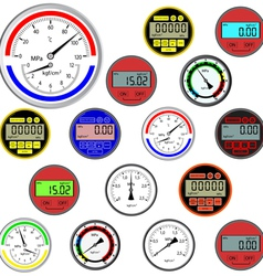 gauges and dials vector image