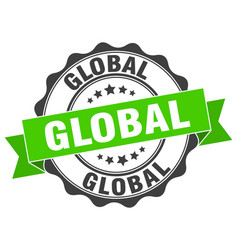 Global stamp sign seal vector