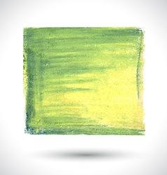 Green handmade brush vector