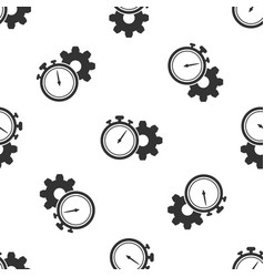 grey time management icon isolated seamless vector image