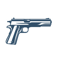 Gun detailed handgun isolated on white background vector