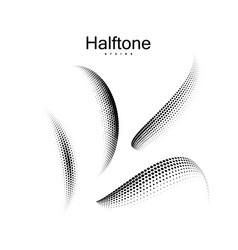 halftone 3d shapes collection vector image