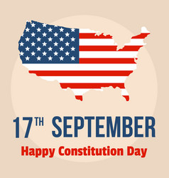 Happy constitution usa day background flat style vector