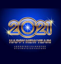 happy new year 2021 luxury alphabet set vector image