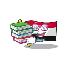 Happy smiling flag sudan student bring book vector