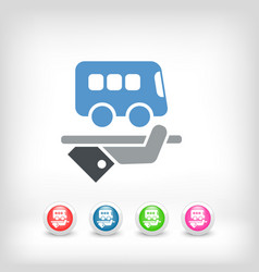 Hotel icon bus service vector