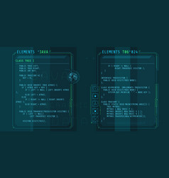 Hud interface elements with part code java vector