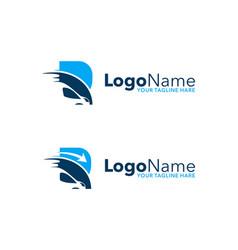 Letter truck b logo vector