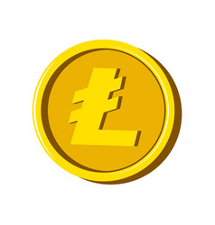 litecoin virtual money currency vector image