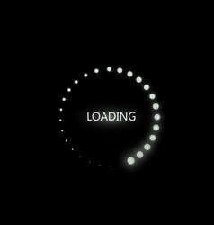 Loading icon on black vector
