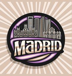 Logo for madrid vector