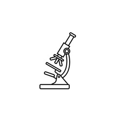 microscope line icon medicine and research vector image