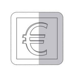 middle shadow monochrome square with currency vector image