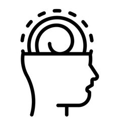 Mind hypnosis icon outline style vector