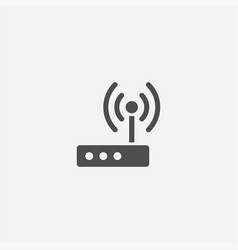 modem icon vector image