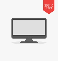 Monitor icon Flat design gray color symbol Modern vector image