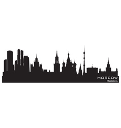 Moscow Russia skyline vector