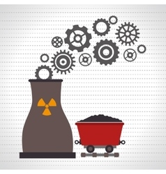 nuclear reactor and mining isolated icon design vector image