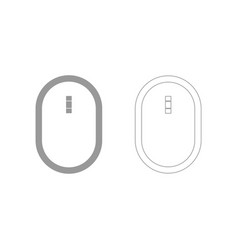 optical mouse the grey set icon vector image vector image