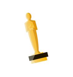 Oscar gold cup for cinema or film modern vector