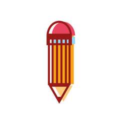 Pencil object with eraser to drawing design vector