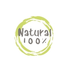 Percent Natural Food Label vector