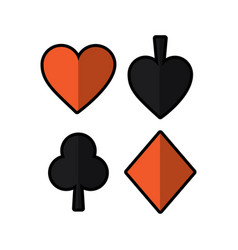 Playing card spade heart club diamond suit vector