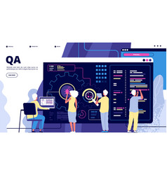 Qa landing software testing quality assurance vector