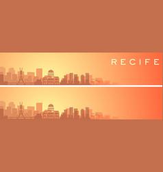 Recife beautiful skyline scenery banner vector