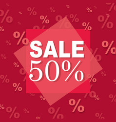 red discount poster vector image