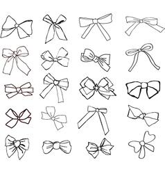 Ribbons hand drawn vector