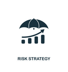 risk strategy icon creative element design from vector image