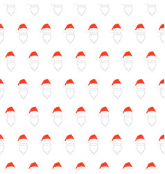 santa claus face pattern simple of vector image