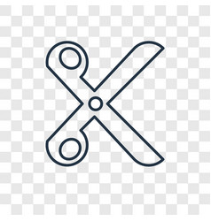 scissors concept linear icon isolated on vector image