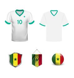 Senegal flag cheer football support vector