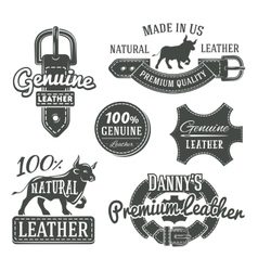 Set of vintage belt logo designs retro vector