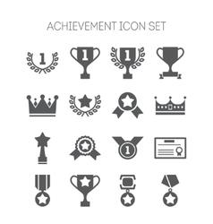 Set simple achievement icons for web design vector