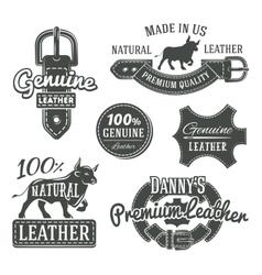 Set vintage belt logo designs retro vector